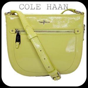 Cole Haan Crossbody Yellow Patent Leather EUC!